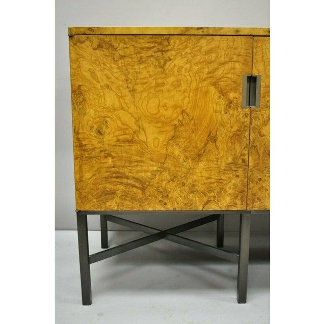 1960s Roger Sprunger for Dunbar Burled Olivewood Credenza For Sale - Image 5 of 13