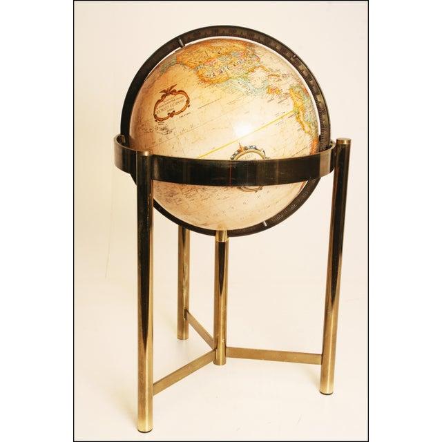 Mid-Century Modern Replogle World Globe W Brass Stand - Image 9 of 11
