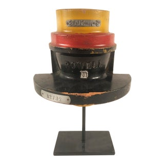 1940s Red Yellow and Black Powell #4 Mold on Metal Stand For Sale