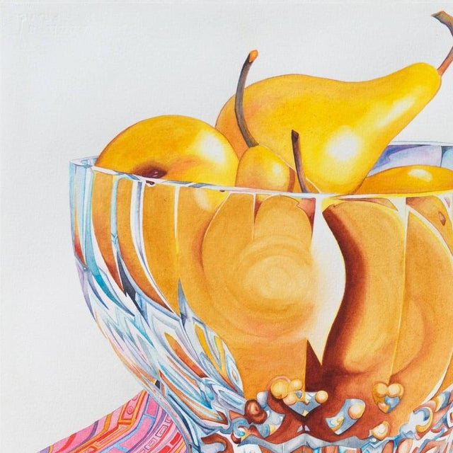 Contemporary Sidnii Woods Still Life of Boscobel Pears 1990 For Sale - Image 3 of 9