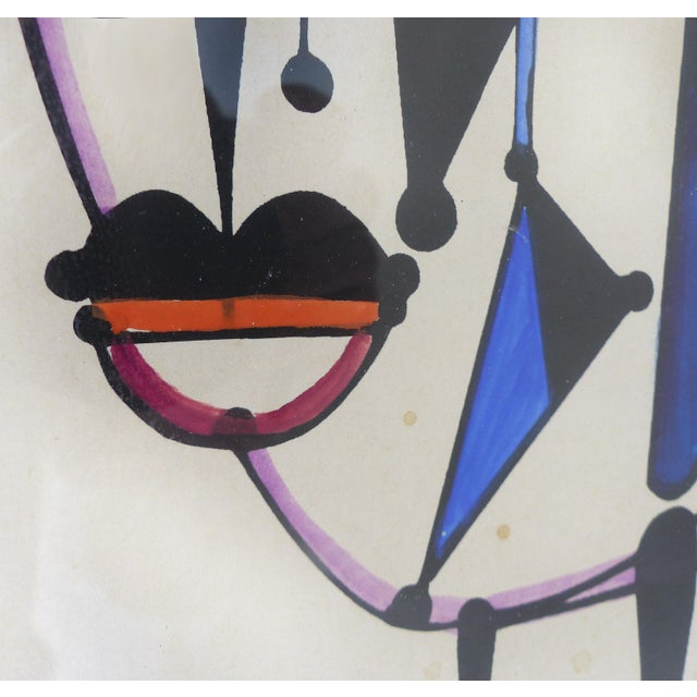 1970 Abstract Lithograph by Cuban-American Artist Jose Maria Mijares For Sale - Image 5 of 8