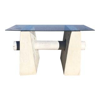 1980's Postmodern Plaster Coffee Table For Sale