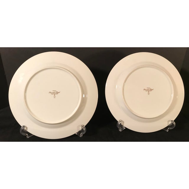 Vintage Fitz and Floyd Fox Hunting Plates - A Pair | Chairish