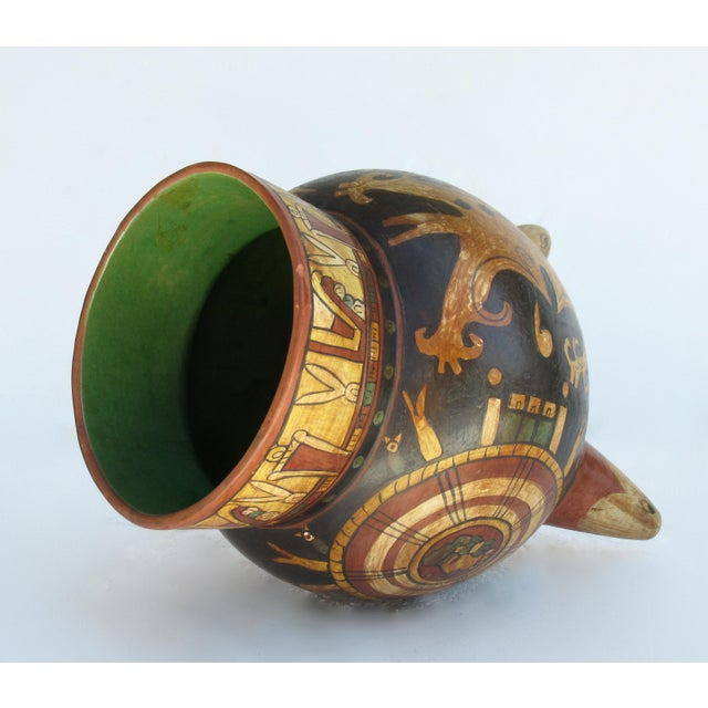 C.1935-50s Vintage Mexican Hand-Made Terra-Cotta Bulbous Calabash Olla, 3-Legged Vessel For Sale In West Palm - Image 6 of 13