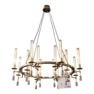 Restoration Hardware Fontanelle Round Chandelier For Sale