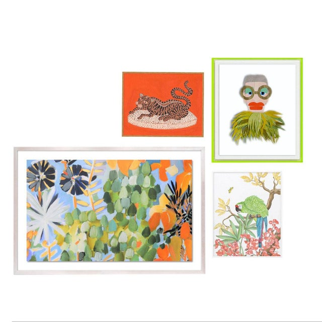 Green Bali Gallery Wall, Set of 4 For Sale - Image 8 of 8