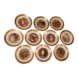 Ten Hans Christian Anderson Royal Copenhagen Plates For Sale