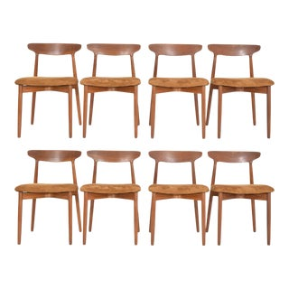 Set of Eight Harry Ostergaard, Model 59 Teak Dining Chairs For Sale