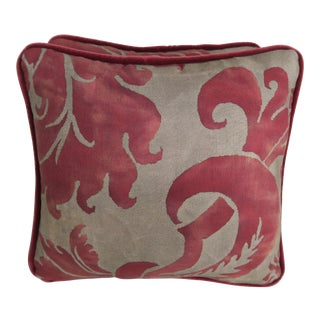 Glicine Patterned Fortuny Pillows, Pair For Sale
