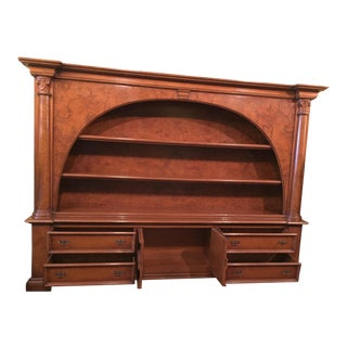 Antique Italian Wood Bookcase and Sideboard for Sale For Sale