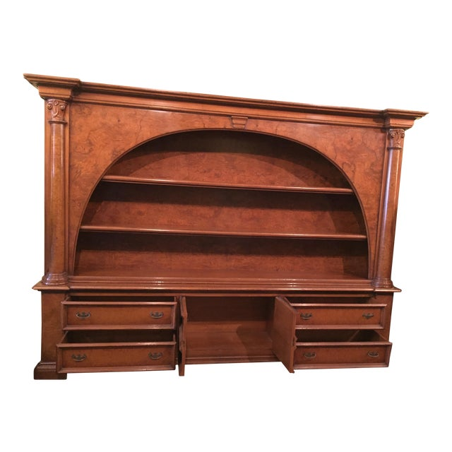 Vintage ABC Carpet & Home Italian Wood Bookcase and Sideboard For Sale