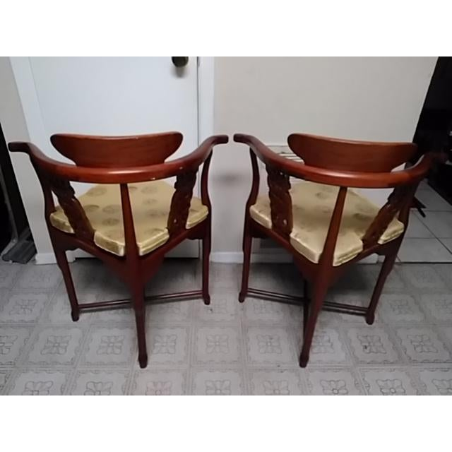 Chinese Solid Rosewood Corner Chairs - A Pair For Sale - Image 9 of 11