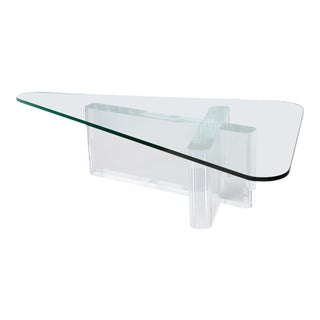 Frost Sculptural Lucite Coffee Table
