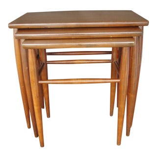 Mersman Mid-Century Teak Nesting Table - Set of 3 For Sale