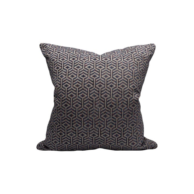 Scalamandre Axial Pillow, Aubergine For Sale