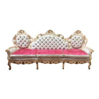 Rococo French Boudoir Parlor Sofa For Sale