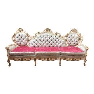 Rococo French Boudoir Parlor Sofa