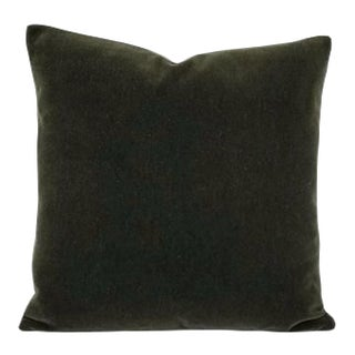 F. Schumacher San Carlo Mohair Velvet Balsam Pillow Cover For Sale