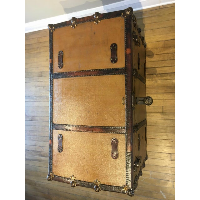 Early 1900s Canvas Travel Trunk For Sale - Image 9 of 13