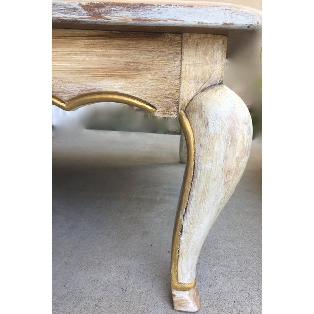 Coffee Table Legs Gold: Antique Gray W Gold Accented Trim Square Coffee Table With