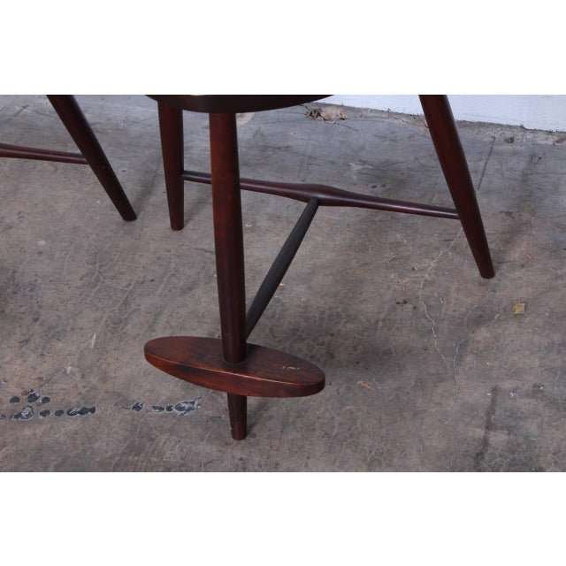 Set of Three Mira Barstools by George Nakashima For Sale - Image 9 of 10
