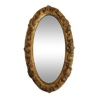 Florentia Oval Giltwood Mirror For Sale