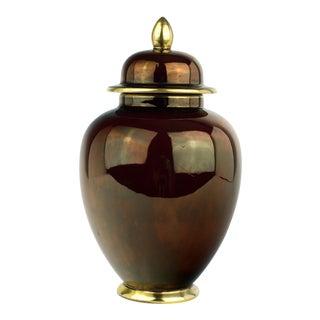 Vintage Iridescent Burgundy Ginger Jar