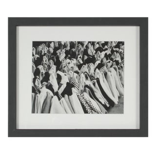 Rolled Fabric in an Istanbul Marketplace 1960s Black and White Photograph For Sale