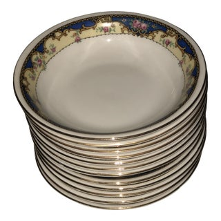 Antique 1920s Porcelain Finger Bowls - Set of 12 For Sale