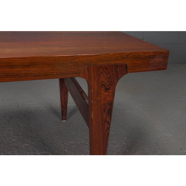 Brown Mid-Century Danish Modern Rosewood Coffee Table For Sale - Image 8 of 10