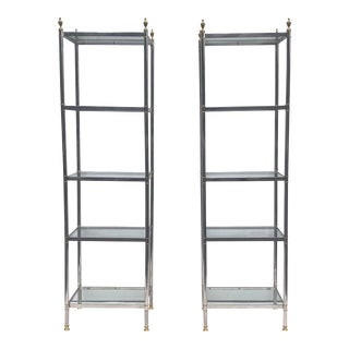 Vintage Modern Etagere Bookcase For Sale