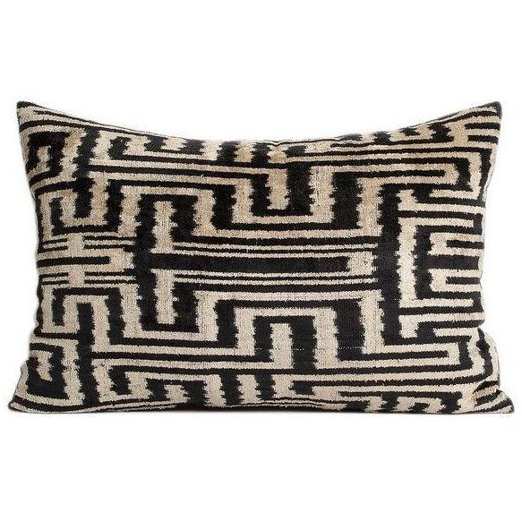 Vintage Tribal Silk Velvet Pillow - Image 1 of 2