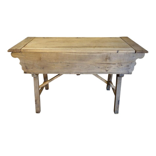 19th Century Italian Rustic Tuscan Farmhouse Console Table For Sale