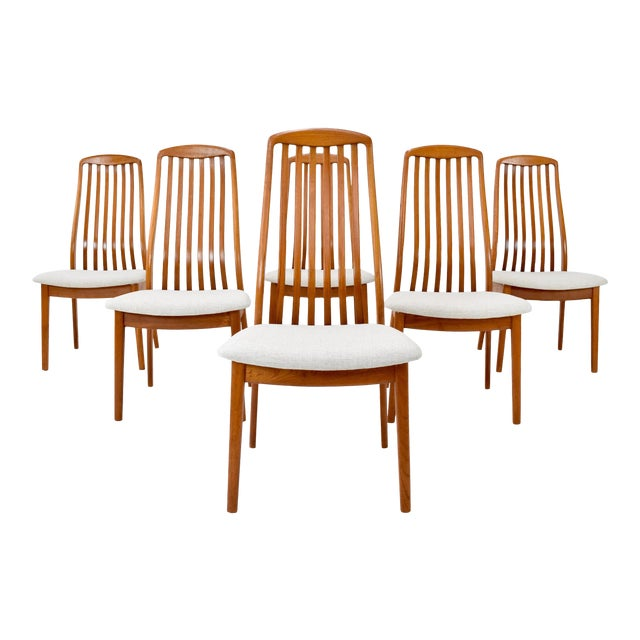 Danish Modern Teak Dining Chairs by Edward Valentinsen - Set of Six For Sale