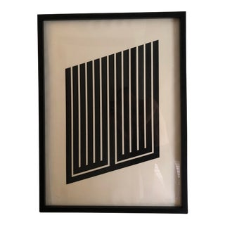 Donald Judd Parallelogram #9 Serigraph Print For Sale