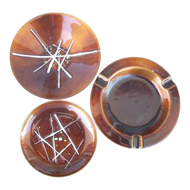 Enamel on Copper Plates - Set of 3 - Image 1 of 7