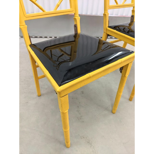 Resin 1970s Hollywood Regency Faux Bamboo Folding Chairs - a Pair For Sale - Image 7 of 11