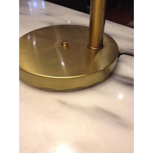 Vintage Brass Swing Arm Desk Lamp with Drum Shade - Image 6 of 7