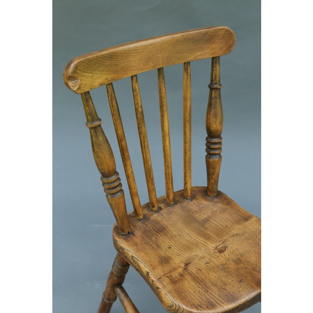 Antique English Elm Child's Chair - Image 3 of 8