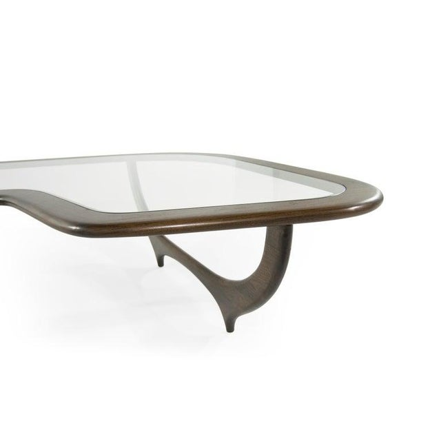 Brown Large Scale Sculptural Walnut Coffee Table, Italy, 1950s For Sale - Image 8 of 13