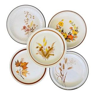 Vintage Mismatched Dinner Plates- Set of 5 For Sale