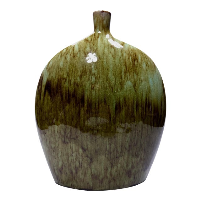 Apropos Home Collection Green and Brown Vase For Sale
