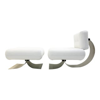 Alta Chair and Ottoman by Oscar Niemeyer For Sale