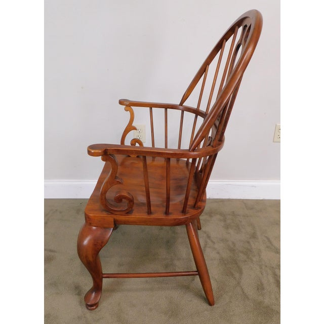 Bob Timberlake Lexington Furniture Set 4 Cherry Windsor Dining Chairs For Sale - Image 9 of 13