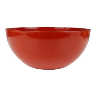 Finel Finland Red Enamel Bowl Kaj Franck Mid Century Modern For Sale