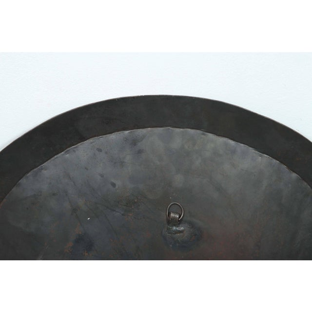 Metal Moroccan Hanging Black Metal Tray From Meknes For Sale - Image 7 of 9