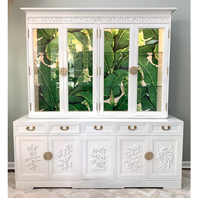 Gold Asian Chinoiserie China Cabinet by Ricardo Lynn For Sale - Image 8 of 8