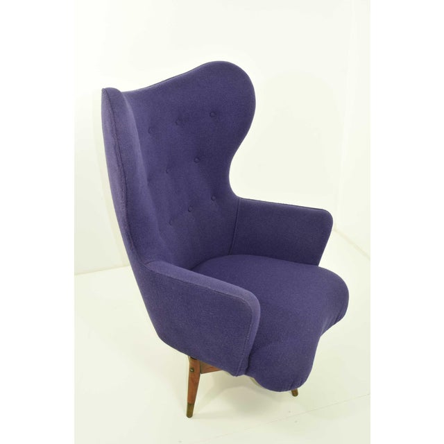 Mid-Century Danish Lounge Chair For Sale - Image 4 of 9