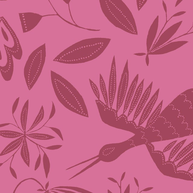 Transitional Julia Kipling Otomi Grand Wallpaper, 3 Yards, in Camilla For Sale - Image 3 of 3
