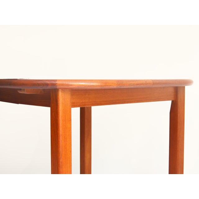 Brown Vintage Mid-Century Modern Teak Extending Dining Table by D-Scan For Sale - Image 8 of 11